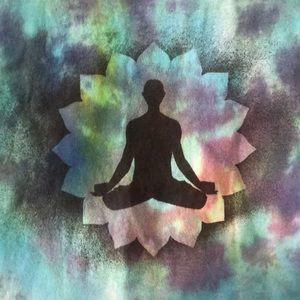 namaste Tops - Tie dye meditation tee